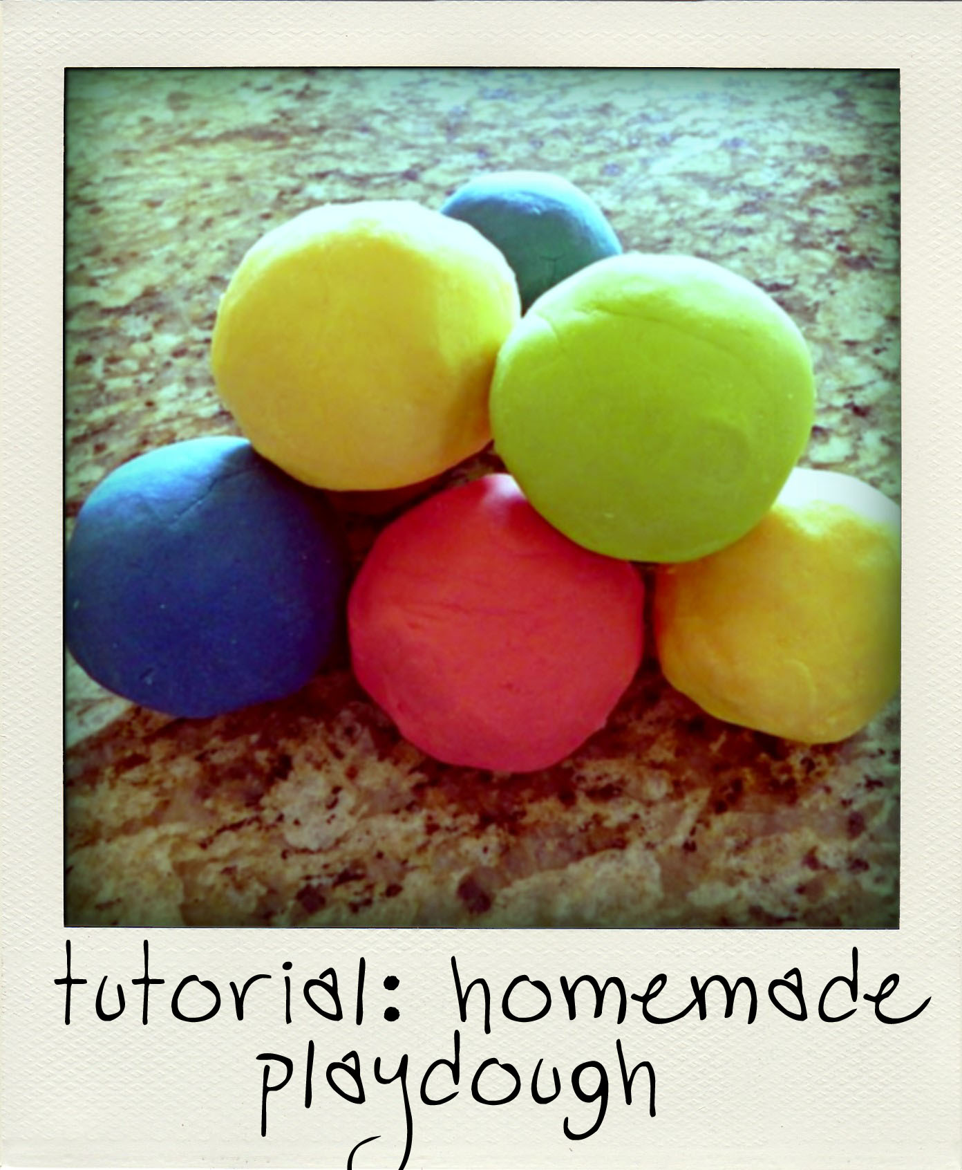 homemade playdough