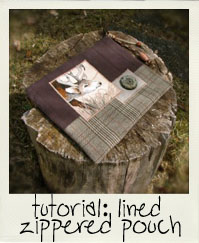 tutorial: lined zippered pouch
