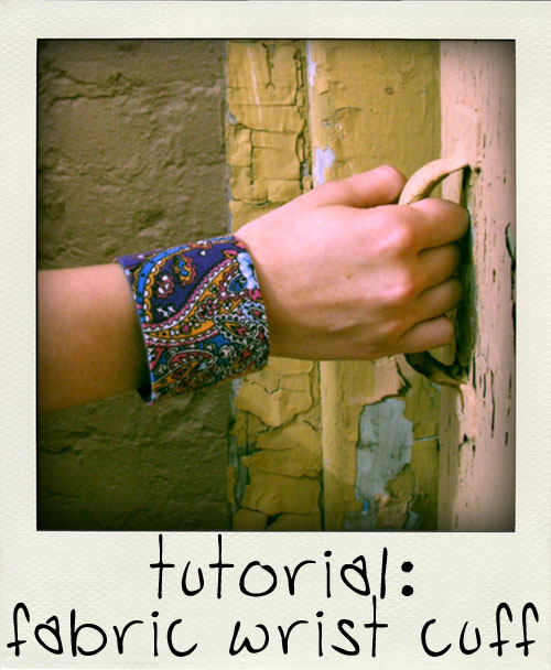 wrist cuff tutorial from fern and freckle 